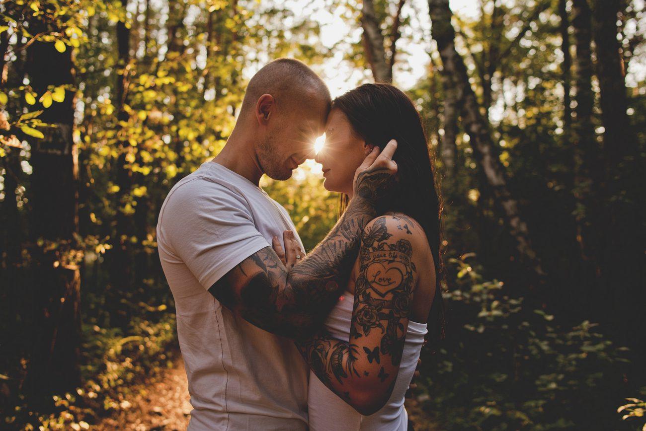 zakochani zakochana para tatuaże