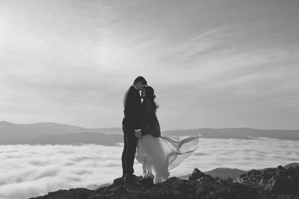 sesja poślubna w Bieszczadach na Połoninie Wetlińskiej
