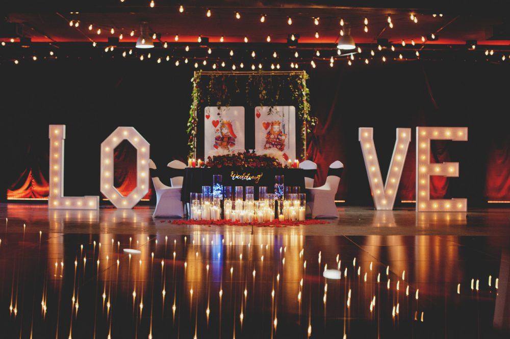 wesele w stylu Las Vegas stylizacja wesela dekoracje